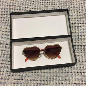 Nasty Gal heart shaped sunglasses!